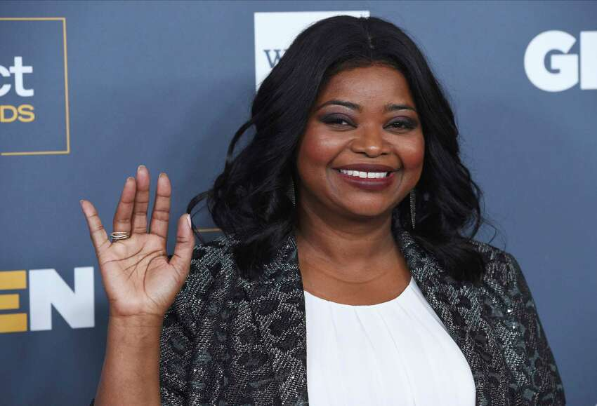Actress Octavia Spencer, recipient of the Inspiration Award, waves to photographers at the 2019 GLSEN Respect Awards at the Beverly Wilshire Hotel, Friday, Oct. 25, 2019, in Beverly Hills, Calif. (Photo by Chris Pizzello/Invision/AP)