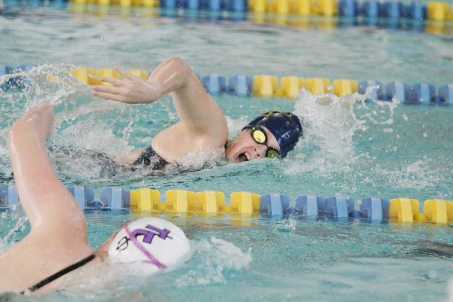 The Manistee girls swimming team kicked off the Coastal Swim Conference championships on Friday with preliminary action. Photo: Kyle Kotecki/News Advocate