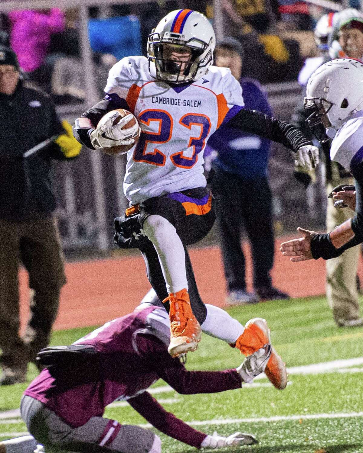 Cambridge/Salem has been a fixture in the playoffs since the early 1990s, as it was in 2019 when running back Kaedin Ogilvie and his team took on Stillwater in the Class C Super Bowl. This week's game against Warrensburg/North Warren/Bolton could go a long way toward determining if that playoff streak ends.