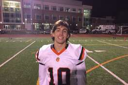 Kai Prohaszka ran for more than 170 yards and two touchdowns in Ridgefield's 48-0 win over Brien McMahon.