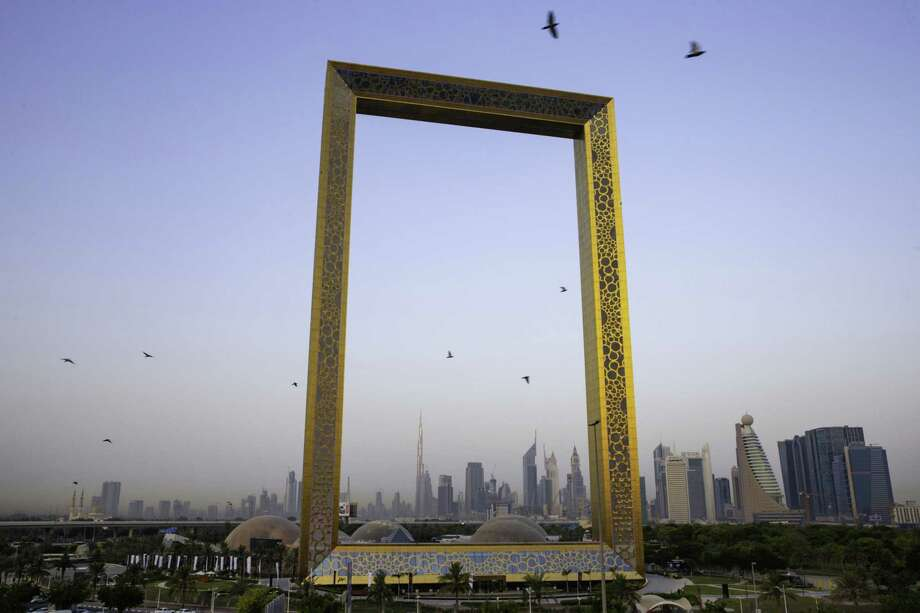 The Burj Khalifa and downtown skyline seen through the Dubai Frame in Dubai, United Arab Emirates, on June 19, 2018. Photo: Bloomberg Photo By Christopher Pike. / © 2018 Bloomberg Finance LP