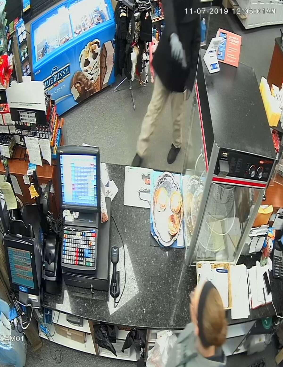 Scotia Police released this image as part of their investigation into an armed robbery Wednesday at the Citgo station on Sacandaga Road.