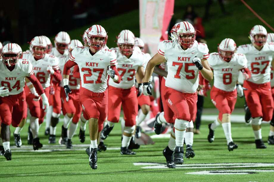 The Katy Tigers take the field for a 6A Region III District 19 football game with the Morton Ranch Mavericks on Friday, Oct. 11, at Rhodes in Katy. Photo: Craig Moseley, Houston Chronicle / Staff Photographer / ©2019 Houston Chronicle
