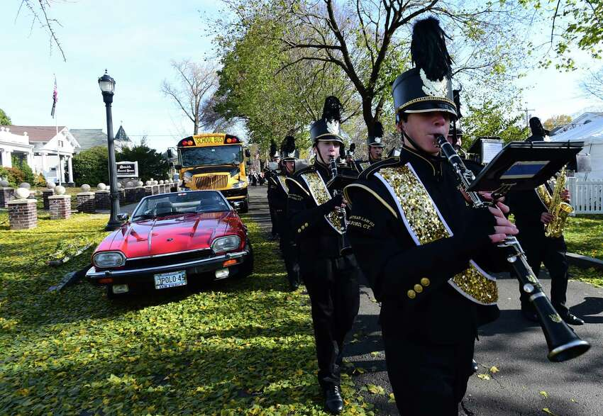 Milford, Connecticut - Saturday, November 9, 2019: The annual Veterans Day Parade Saturday in downtown Milford organized by the Milford Veterans Ceremony and Parade Commission.