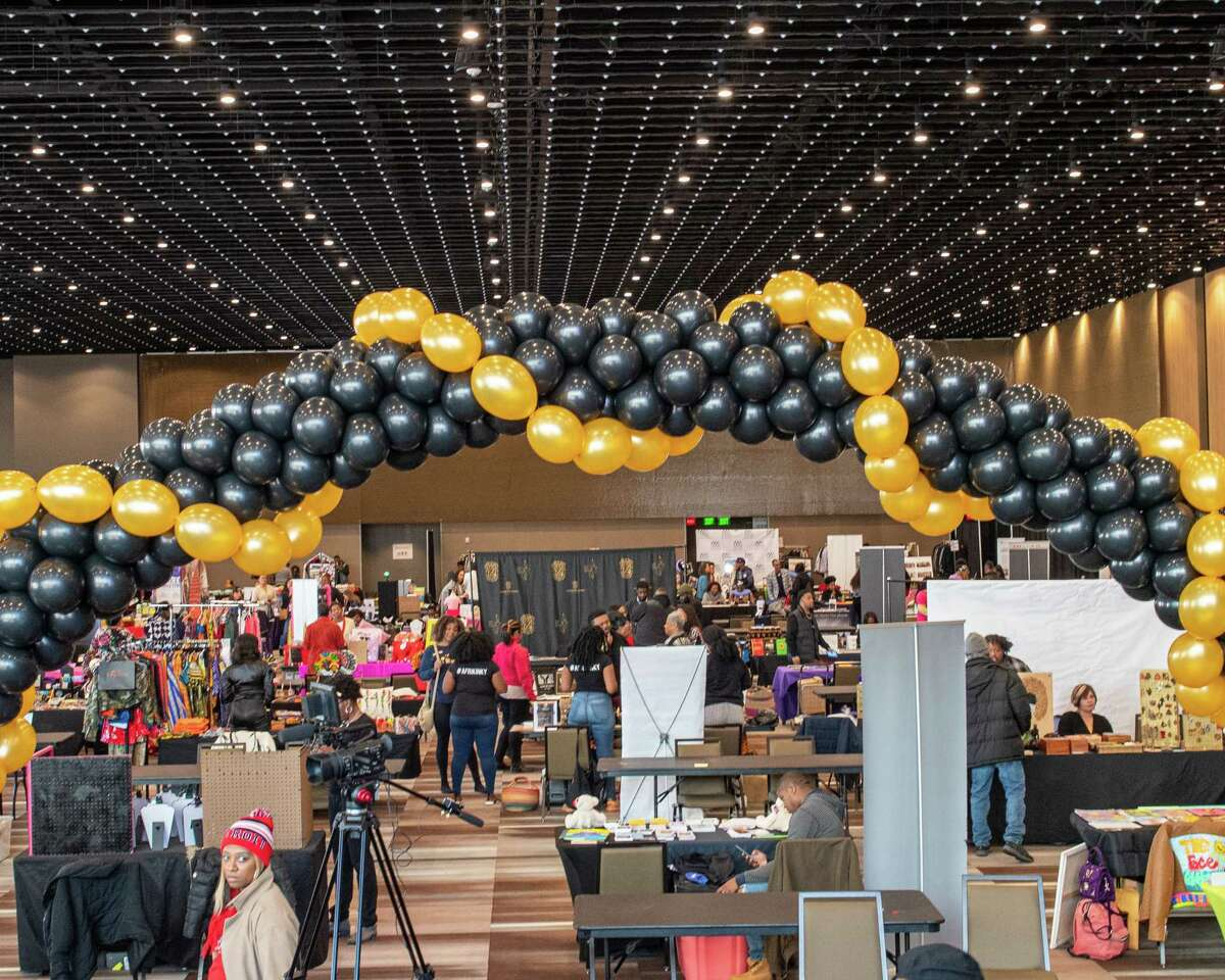 The second CNYS Black Expo, an event to promote economic development for black-owned businesses, at the Albany Capital Center on Saturday, Nov. 9, 2019 (Jim Franco/Special to the Times Union.)