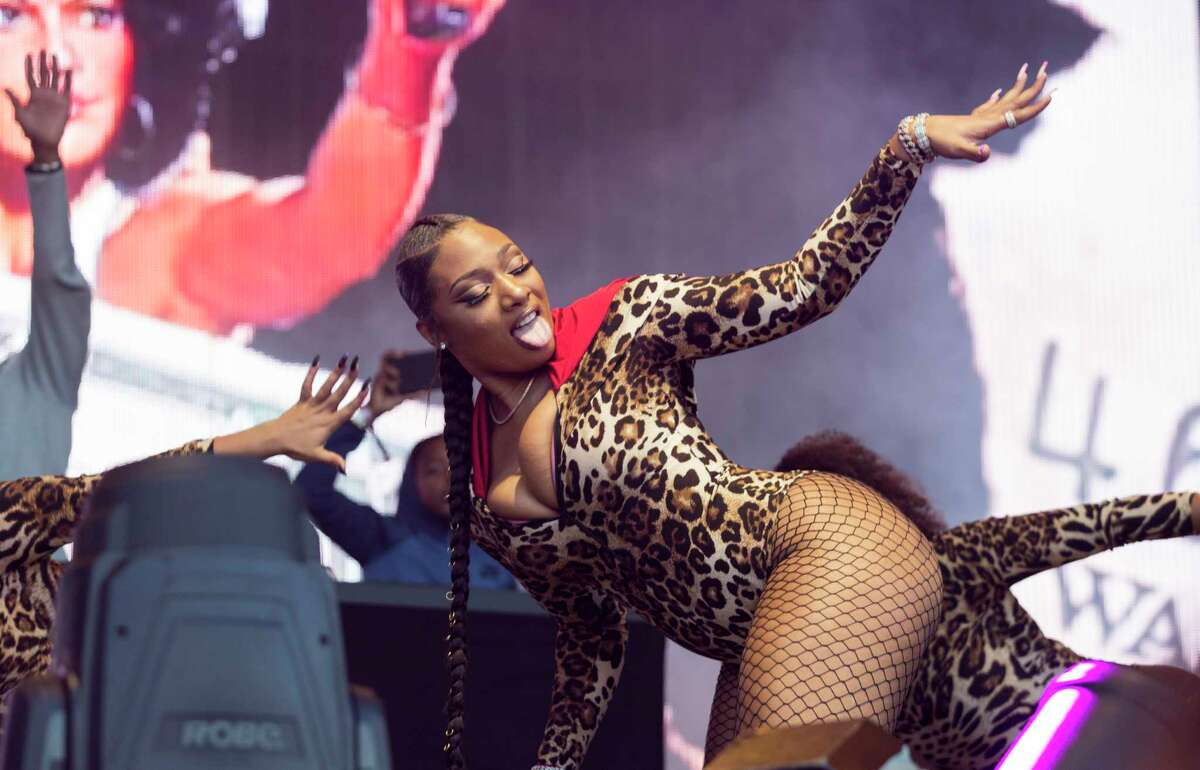 Houston hip hop singer Megan Thee Stallion performs at the Astroworld Festival at NRG Park on Saturday, Nov. 9, 2019, in Houston.