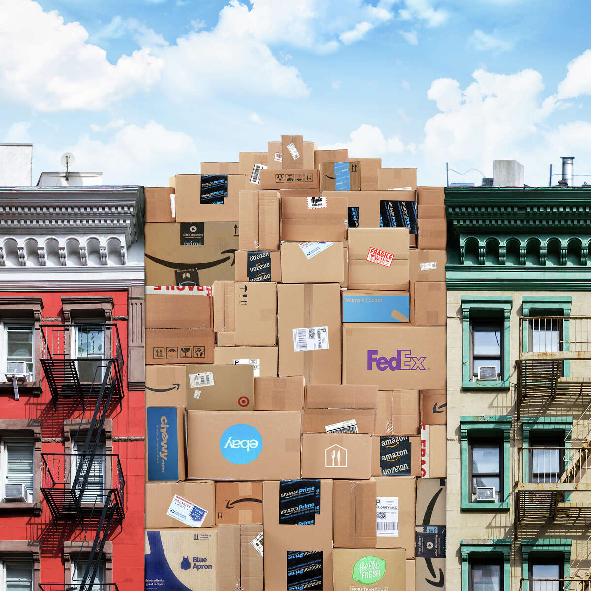 Package deliveries are overtaking New York City and the way many residential buildings have responded to the influx is to go high tech. (Rob Dobi/The New York Times) -- NO SALES; FOR EDITORIAL USE ONLY WITH NY PACKAGE DELIVERY BY RONNIE KOENIG FOR NOV. 7, 2019. ALL OTHER USE PROHIBITED. --