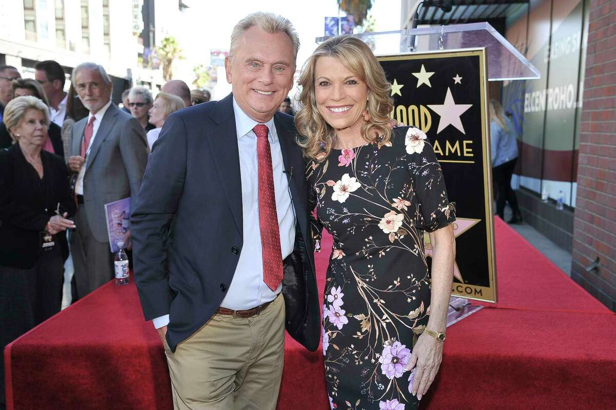 Pat Sajak, left, and Vanna White, from