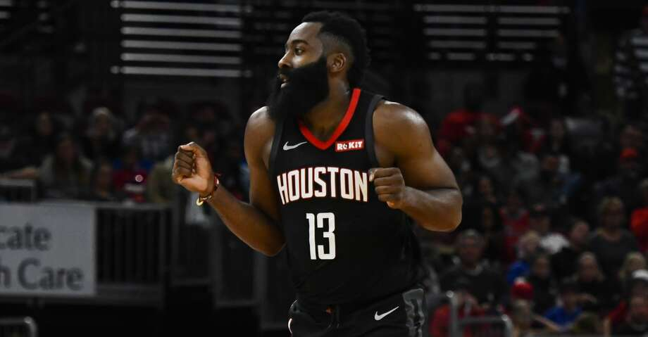 James Harden averaged 40.7 points, 9.3 assists and eight rebounds as the Rockets went 3-0 last week. Photo: Matt Marton/Associated Press