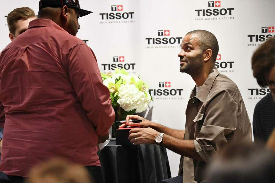 Retired San Antonio Spurs point guard Tony Parker greets fans as a Tissot Brand Ambassador at Dillard's in North Star Mall on Saturday, Nov. 9, 2019. Photo: Billy Calzada / Staff Photographer / San Antonio Express-News