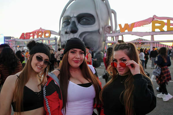 People attend the second annual AstroWorld Festival Saturday, Nov. 9, 2019, in Houston.