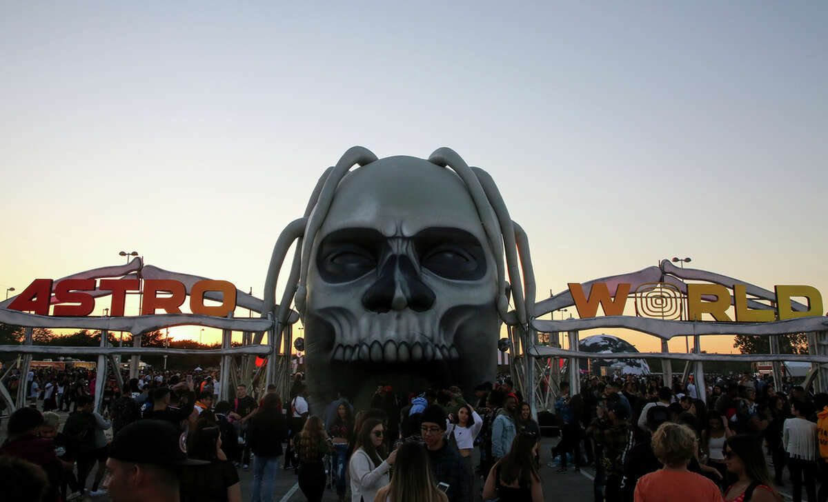 Thousands of people attended the second annual AstroWorld Festival on Nov. 9, 2019, in Houston.