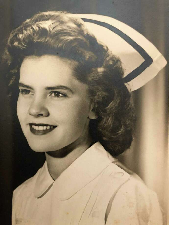 Pat Parlette in her beloved nurse's uniform. Photo: Contributed /