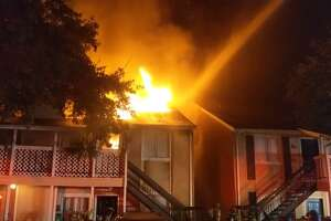 At least two dozen people are displaced following an early Sunday apartment complex fire in north Harris County, officials said.