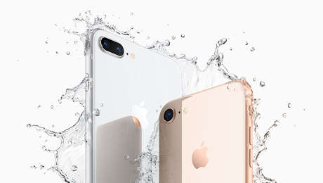 iPhone 8 is water resistant.