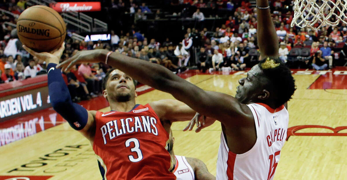 PHOTOS: Rockets game-by-game New Orleans Pelicans guard Josh Hart (3) shoots as Houston Rockets center Clint Capela, right, defends during the second half of an NBA basketball game, Saturday, Oct. 26, 2019, in Houston. (AP Photo/Eric Christian Smith) Browse through the photos to see how the Rockets have fared in each game this season.