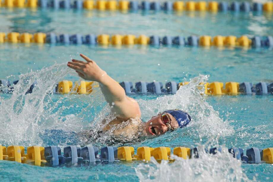 Manistee girls swimming and diving hosted the Coastal Swim Conference championship final on Saturday. The Chippewas finished third with 318 points. Photo: Kyle Kotecki/News Advocate