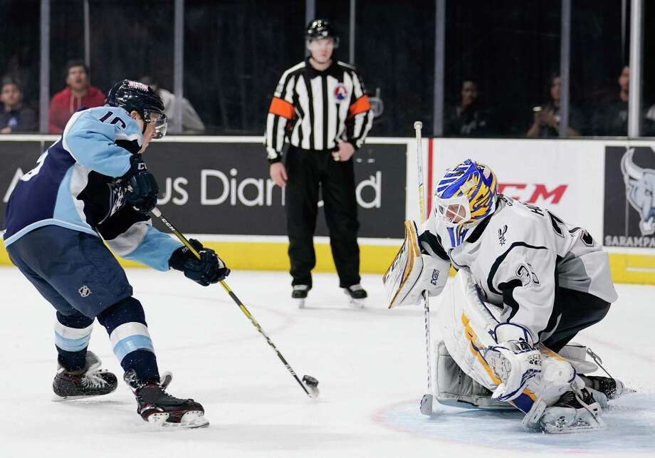 The Milwaukee Admirals play the San Antonio Rampage during the third period of an AHL hockey game, Sunday, Nov. 10, 2019, in San Antonio. Milwaukee won 4-3 in a shootout. (Darren Abate/AHL) Photo: Darren Abate, FRE / Darren Abate/AHL / Darren Abate Media, LLC/AHL/San Antonio Rampage