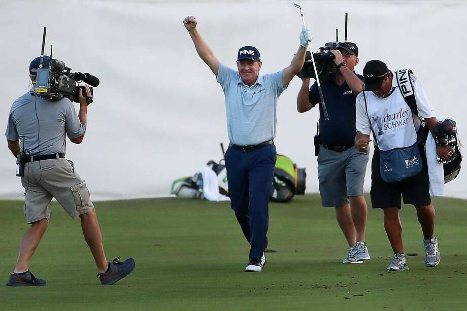 Jeff Maggert holes out to win and give Scott McCarron Schwab Cup