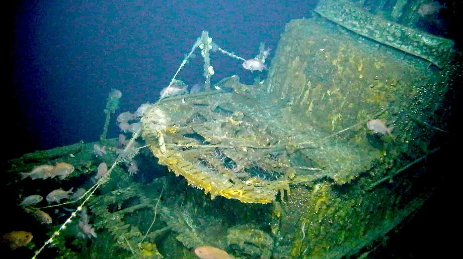 A photo provided by Lost52 Project shows the wreckage of the submarine USS Grayback. The Grayback sank on Feb. 27, 1944 during its tenth war patrol of World War II when, en route from Pearl Harbor to Midway Island, a 500-pound Japanese bomb detonated just aft of its conning tower. (Tim Taylor/Lost52 Project via The New York Times) -- NO SALES; FOR EDITORIAL USE ONLY WITH NYT STORY SLUGGED WWII MISSING SUBMARINE BY JOHN ISMAY FOR NOV. 10, 2019. ALL OTHER USE PROHIBITED. -- Photo: Tim Taylor/lost52 Project, NYT