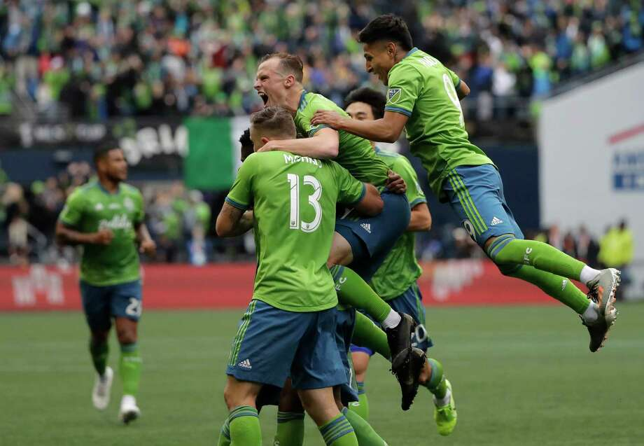 The Seattle Sounders have teamed up with Captain Morgan for novel coronavirus relief. The rum brand has pledged at least $55,000 for the club's COVID-19 relief fund. Photo: Ted S. Warren / Copyright 2019 The Associated Press. All rights reserved.