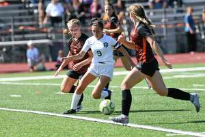 Schalmont's Sofia Cassano (9) plays against Mohonasen during a Section II girls' soccer game in Rotterdam, N.Y., Saturday, Sept. 21, 2019. (Hans Pennink / Special to the Times Union)