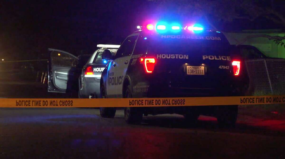 Houston police investigate a shooting in the 6700 block of Weston on Sunday, Nov. 10, 2019.