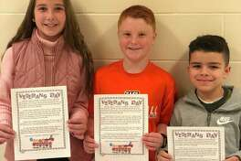 From left to right: Scotland Elementary School students Averie Young, Louis Imbrogno, and Josh Ochoa.