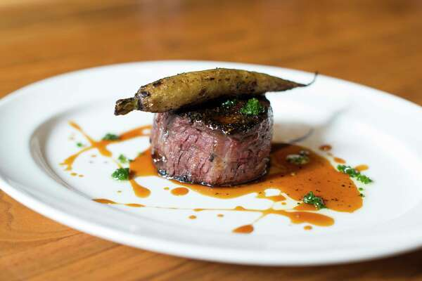 Grass fed beef steak from Guard and Grace opening Nov. 19 in downtown's One Allen Center.
