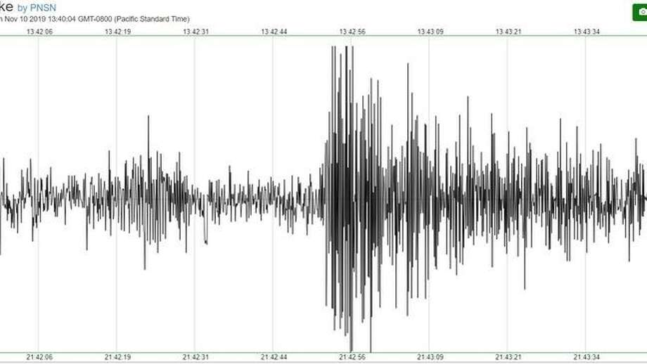 Second goal registers on a seismograph (PNSN Image) Photo: Courtesy KOMO