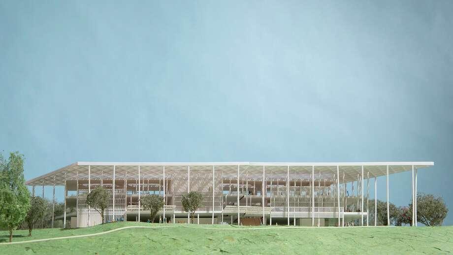 An architectural model of the proposed Houston Endowment headquarters. Photo: Courtesy Of Houston Endowment