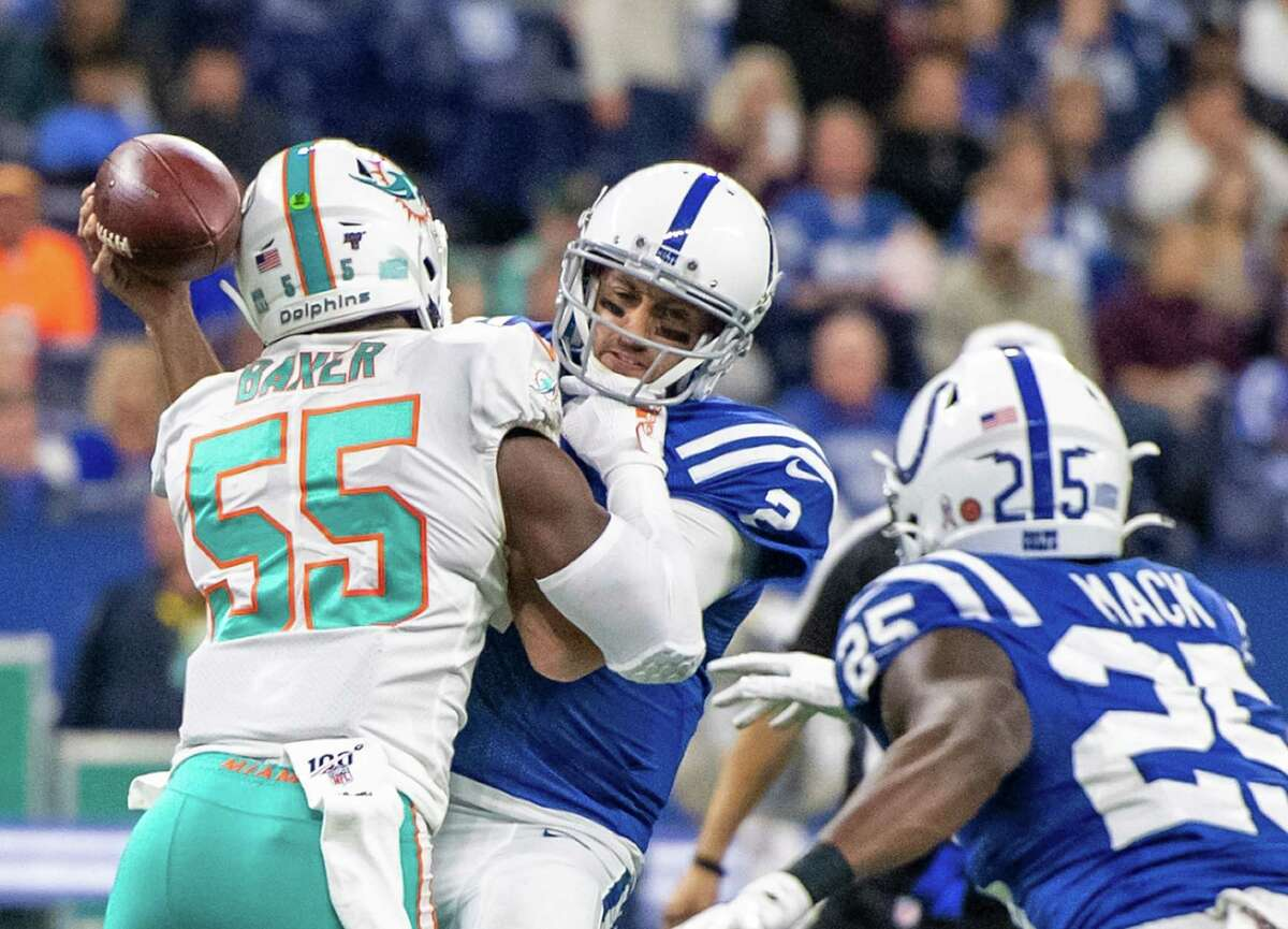 Brian Hoyer and the Colts stumbled to a home loss against the lowly Dolphins, creating a one-game lead for the idle Texans atop the AFC South.