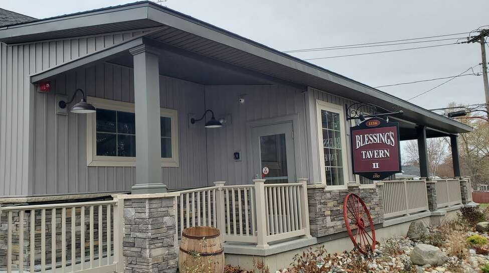 The newly rebuilt Blessing's Tavern at 1116 Watervliet Shaker Rd. in Colonie is nearly ready to open. The prior tavern was destroyed on Oct. 28, 2016, when a BMV crashed into through the building and burst into flames. (Chris Churchill / Times Union)