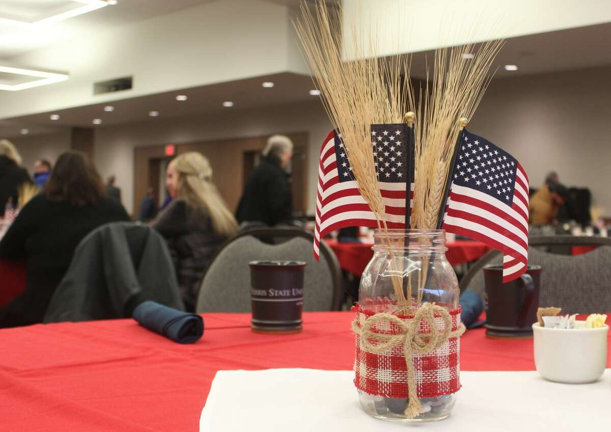 Veterans, active duty military personnel and civilians from Ferris State University and the Big Rapids area were invited to FSU's annual Veterans Day breakfast Monday morning. Attendees enjoyed a buffet-style breakfast anda presentation by special guest, retired U.S. Army Sgt. Douglas Szczepanski.
