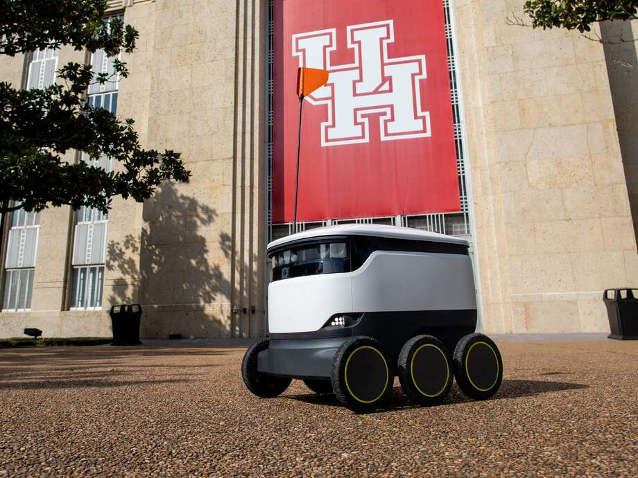 The University of Houston has officially deployed its fleet of 30 food delivery robots, making history as the first university in Texas to offer robotic deliveries to students, staff and faculty. The robots can be tracked on an interactive map as they make their way to a building's nearest outdoor entrance and are quickly becoming part of campus life. Photo: University Of Houston