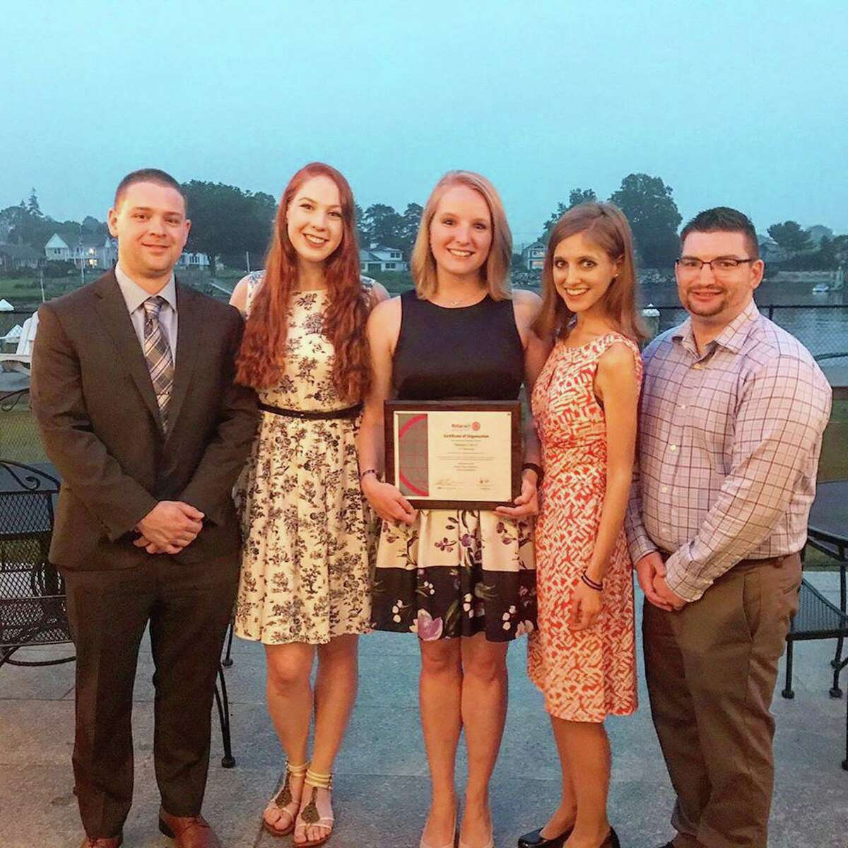 CT Shoreline Rotaract Officers, Chris Kelly, Laura Campbell,Morgan Kuehnle, Ashley Volkens and Clark Law.