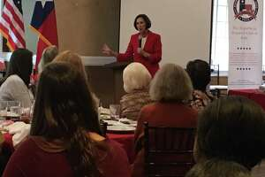 District 18 state Sen. Lois Kolkhorst, R-Brenham, exhorted those attending the Nov. 7 luncheon of The Republican Women's Club of Katy to support the Republican candidate in the District 28 special election. Voters will elect a successor to Republican John Zerwas, who retired.