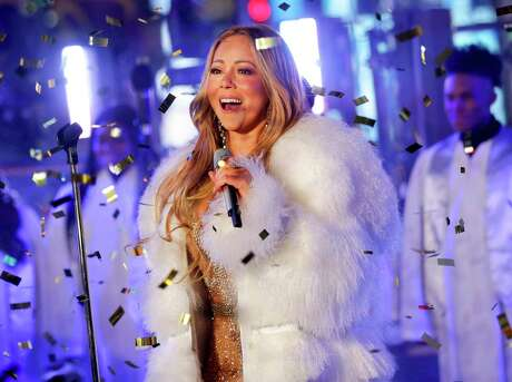 In this Dec. 31, 2017 file photo, Mariah Carey performs at the New Year's Eve celebration in Times Square in New York.