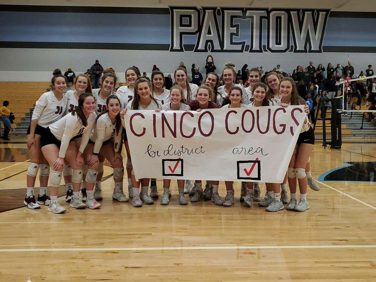 The Cinco Ranch volleyball team won the area championship with a sweep of Cypress Falls, Nov. 8 at Paetow High School.