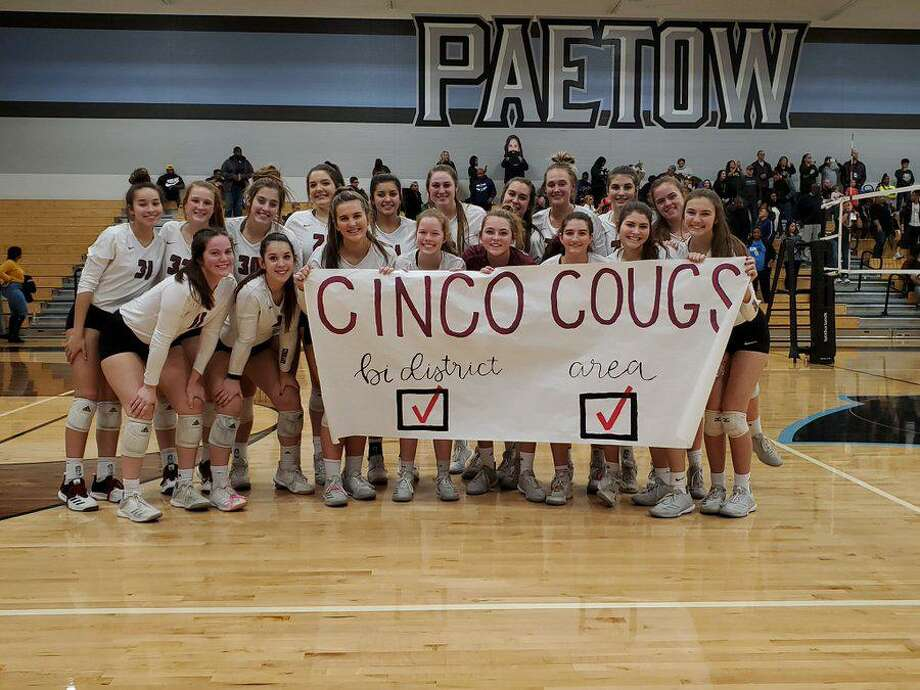 The Cinco Ranch volleyball team won the area championship with a sweep of Cypress Falls, Nov. 8 at Paetow High School. Photo: Cinco Ranch High School / Cinco Ranch High School