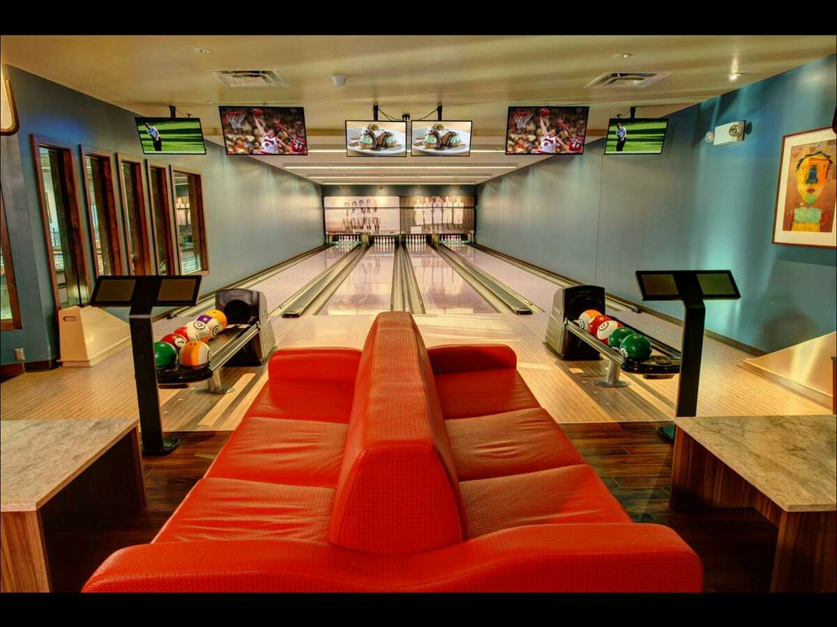 A Pinstripes bowling bistro that opened in October 2019 at a Houston development. Pinstripes is planning a Dec. 12 grand opening at the new SoNo Collection mall in South Norwalk, Conn., one of several entities that will debut in Connecticut for the first time along with Amazon 4-star and Camp.