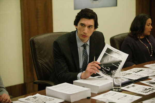 "Adam Driver plays Senate staffer Daniel Jones in ""The Report."""
