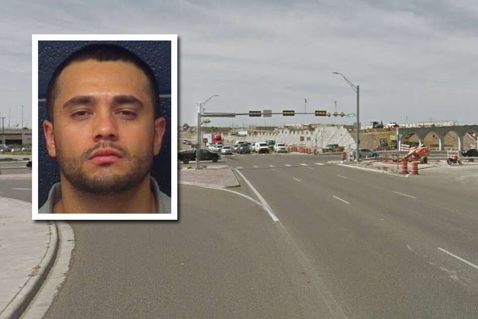 A shootout between two cars driving on Loop 20 ended with a crash, a man shot in the abdomen and another arrested on aggravated assault charges around midnight Saturday.