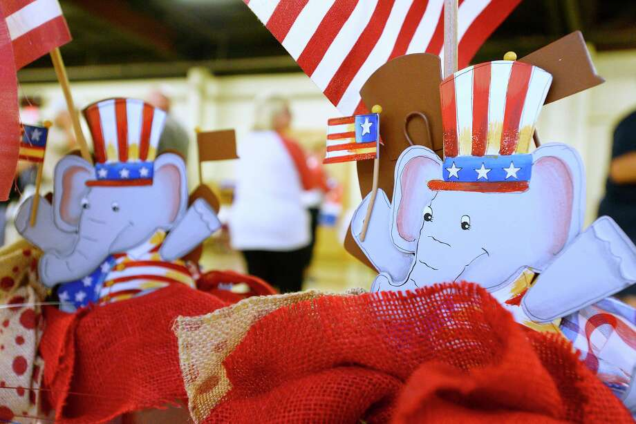 Elephant decorations on display during the Jefferson County Republican Party's campaign kickoff event at Rockin' A Cafe.   Photo taken Tuesday 8/28/18  Ryan Pelham/The Enterprise Photo: Ryan Pelham / Ryan Pelham/The Enterprise / ©2018 The Beaumont Enterprise