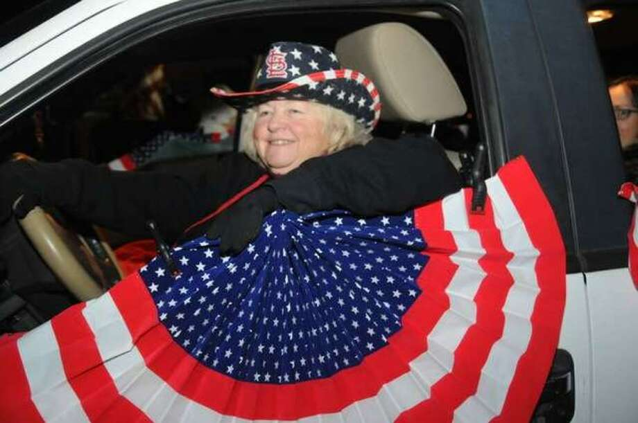 A spirited participant takes part in last years' Veterans Day Parade in downtown Edwardsville. Photo: File Photo By David Blanchette|For The Intelligencer