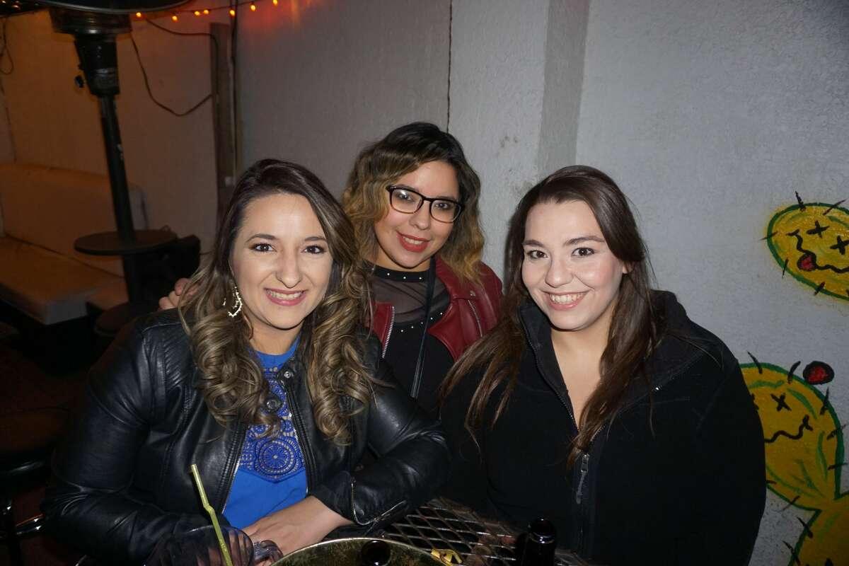 Ari Morgan, Areli Juarez and Lucy Rodriguez at The Happy Hour Downtown Bar