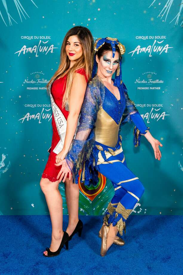 Kimberly Castillo and Maria LaMance attend Premiere of AMALUNA by Cirque du Soleil on November 7th 2019 at Oracle Park in San Francisco. Photo: Drew Altizer Photography/Photo - Susana Bates For Drew Al