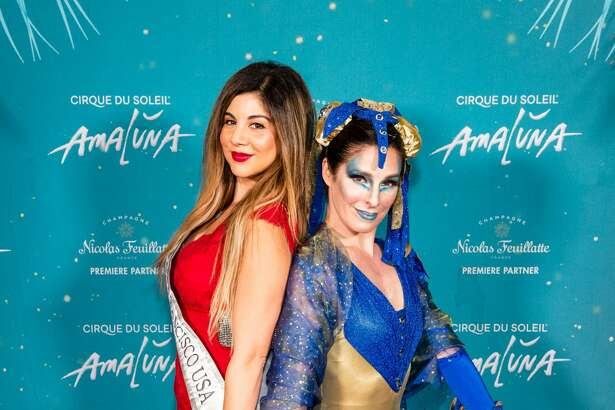 Kimberly Castillo and Maria LaMance attend Premiere of AMALUNA by Cirque du Soleil on November 7th 2019 at Oracle Park in San Francisco.