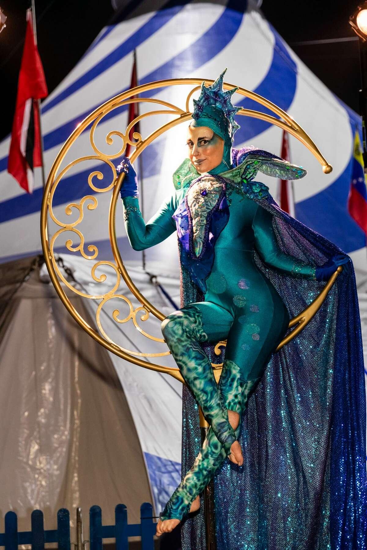 Cirque du Soleil Artist attends Premiere of AMALUNA by Cirque du Soleil on November 7th 2019 at Oracle Park in San Francisco.