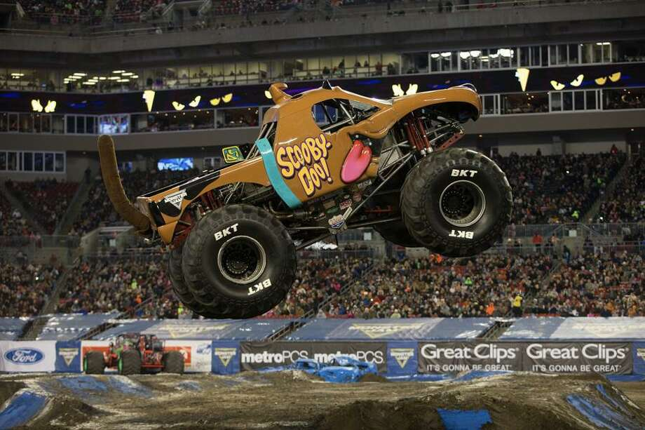 Ahead of the Monster Jam event coming to Bridgeport's Webster Bank Arena November 15-17, fans are invited to see Scooby-Doo!, the Monster Jam truck driven by Myranda Cozad, on display at the Westfield Mall in Trumbull on November 14, from 2 to 6 p.m. Cozad is not expected to attend the diplay event at the mall. Photo: Https: / /www.monsterjam.com